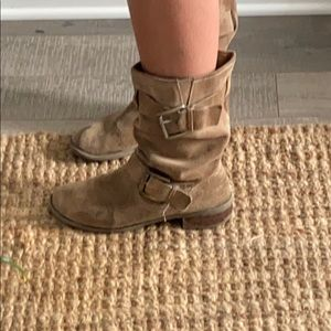Jessica Simpson Tan Leather Boots in GUC